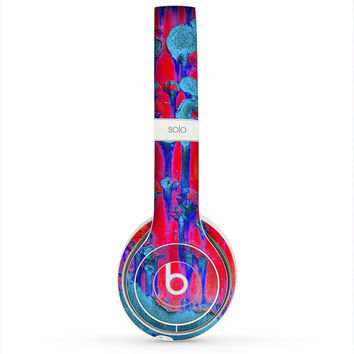 The Bright Red v2 Metal with Turquoise Rust Skin for the Beats by Dre Headphones (All Versions Available)