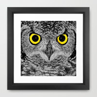 OWL PORTRAIT Framed Art Print by catspaws