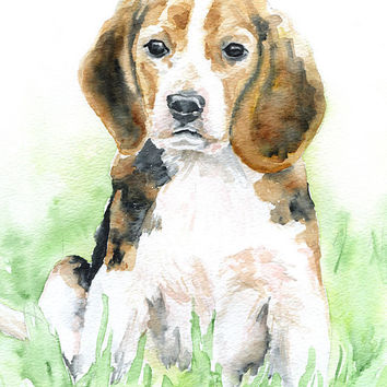 Beagle Watercolor