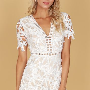 Complete Lace Romper Off White