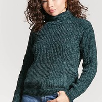Marled Chenille Knit Turtleneck