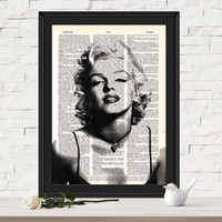 Marilyn Monroe Dictionary Art Print