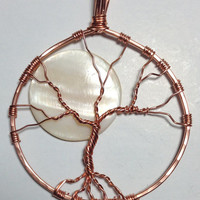 Pendant, tree of life, copper pendant, copper necklace, chain necklace, boho necklace, silverbymaggie, fashion jewelry,