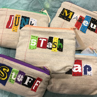 Ransom Notes Zipper Pouches - Great Makeup Bag - Credit Card Case
