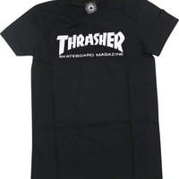 Thrasher Mag Logo Girls Tee Large Black