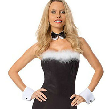 Black Bunny Bodycon Mini Dress Costume