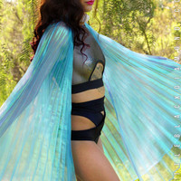 Mini Iridescent Fairy Wings in Blue