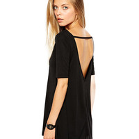 Open Back T-shirt with Strap Detail