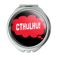Dreaming of Cthulhu Red Compact Purse Mirror