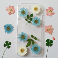 iphone 6 case clear, iPhone 5 Case Clear, iPhone 5s Case, Clear iPhone 5c Case, iphone 6s plus case, iPhone 6 plus case, pressed flower