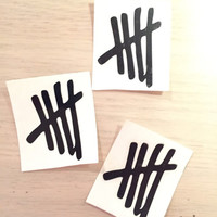 5SOS 5 seconds of summer vinyl decal sticker tally marks