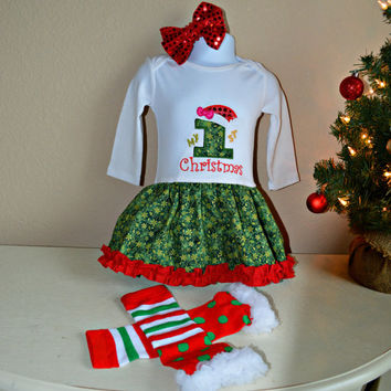 Baby Christmas outfit, Baby first Christmas outfit, Babygirl Christmas Onesuit, Baby outfit, Babygirl outfit, Boutique outfit, Nursing cover