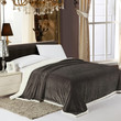 Cozy Home Luxurious Reversible Sherpa Lining Carved Velboa Comforter - Queen (Neutral Gray)