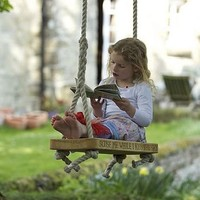 personalised english oak swing by marnie moyle | notonthehighstreet.com