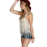Under The Desert Sun Fringe Tank