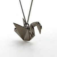 Origami Jewellery swan necklace - Necklaces - Unique, modern jewellery with impact. Oye Modern.