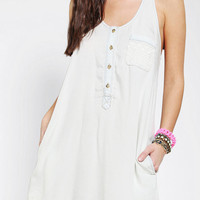 Urban Outfitters - Pins And Needles Lace Pocket Chambray Tank Dress