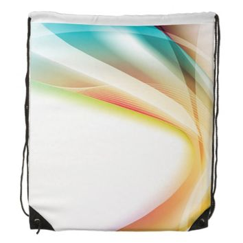 Abstract Swirl 2 Drawstring Backpack