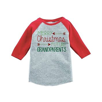 Custom Party Shop Youth Future Grandparents Christmas Raglan Shirt Red