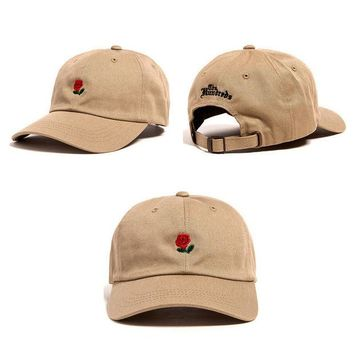 Day-First™ Khaki The Hundreds Rose Strap Cap Adjustable Golf Snapback Baseball Hat