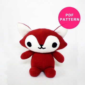 Plush Pattern - Fox PDF Sewing Pattern