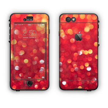 The Unfocused Red Showers Apple iPhone 6 LifeProof Nuud Case Skin Set