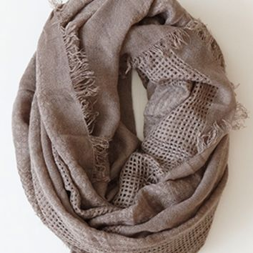 Cozy Up Infinity Scarf, Taupe