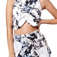 KENDALL + KYLIE Print Crop Shell | Nordstrom