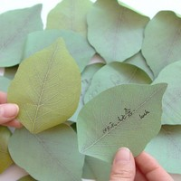 Cute Leaf Sticky Notes Memo Pad Post It Note Diy Kawaii Paper Sticker Pads Korean Stationery Office Supplies Stationery
