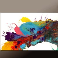 Abstract Art Painting Canvas 36x24 Original Modern Contemporary Paintings by Destiny Womack - dWo - Chasing Dreams