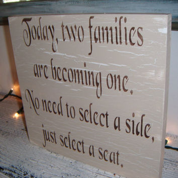 Wedding Seating Plan Sign