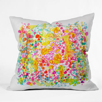 Stephanie Corfee Bubble Garden Throw Pillow