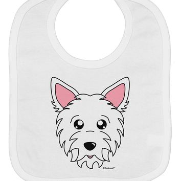 Cute West Highland White Terrier Westie Dog Baby Bib by TooLoud