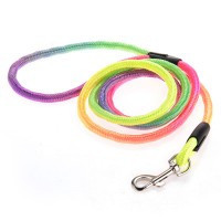 Safety Colorful Walking Harness Collar Leash Lead Round for Pet Dog Puppy - Default