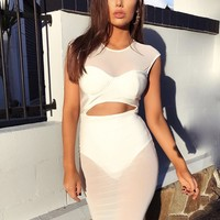 Maya White Party Dress