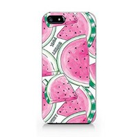 Sweet Pink Watermelon Pattern Plastic Phone Case for Iphone 5 5s
