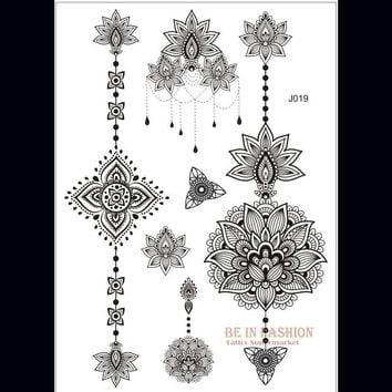 Tattoo Sticker one piece Indian Arabic  henna choker