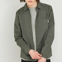 Shore Leave by Urban Outfitters Blake Khaki Zip Overshirt - Urban Outfitters