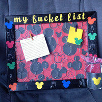 Mickey Mouse Bucket List Frame/Disney by LOVE2STAMP4U on Etsy