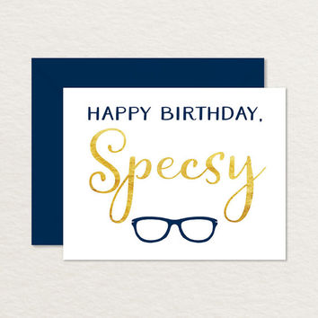 Funny Birthday Card / Printable Birthday Card / Sexy Birthday Card / Birthday Pun / Birthday for Husband Wife / Nerdy Birthday / Glasses