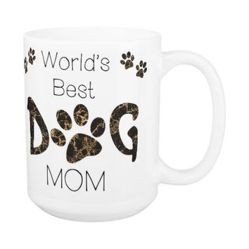 Dog Mom Coffee Mug 9A - Mothers Day Dog Mug - Dog Lover Gift - Worlds Best Dog Mom - Gift for Mom - Gift for Dog Lover - Pet Lovers