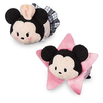 Disney Store Mickey & Minnie Los Angeles Tsum Plush Set Mini New with Box