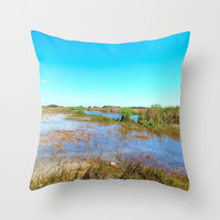 View of the Everglades Throw Pillow by gwendalyn abrams