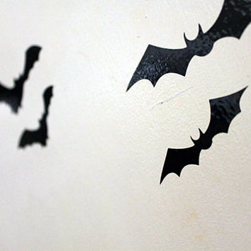 Bats - Winged Creatures - Halloween - Vinyl Decal - Cars - Windows - Glass