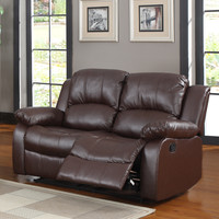 Coleford Brown Double Reclining Loveseat | Overstock.com