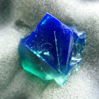 High Quality Color Change Rogerley Fluorite Crystal Display Specimen Weardale England English Blue Green Daylight Fluorescent Color Change
