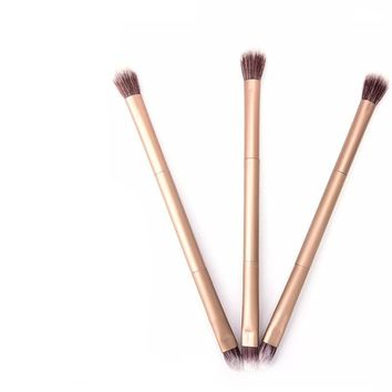 Double Head Soft Metal Highlight Brushes