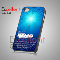 Finding Nemo Dorry Quote - iPhone 4/4s/5 Case - Samsung Galaxy S2/S3/S4 Case - Black or White