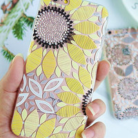 Unique Sunflower iPhone 7 7Plus & iPhone 6s 6 Plus Case Cover + Free Gift Box