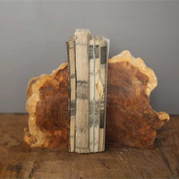 Madre De Cacao Wood Book Ends
